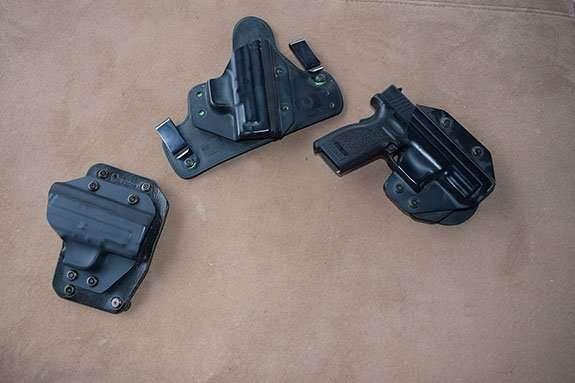 3 of Alien Gear's Holsters